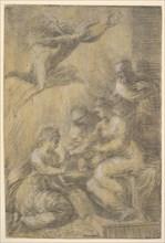 The mystic marriage of Saint Catherine, ca. 1550. Creator: Andrea Schiavone.