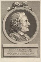 Portrait of Esprit-Joseph-Antoine Blanchard, 1767. Creator: Augustin de Saint-Aubin.