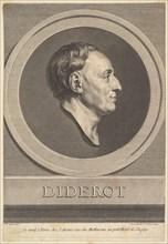 Portrait of Denis Diderot, 1766. Creator: Augustin de Saint-Aubin.