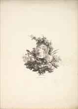 Vignette with the Head of Bacchus on a Cornelian, Tome I, Page 242, from Description de..., 1778-80. Creator: Augustin de Saint-Aubin.