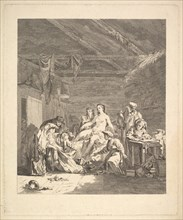Vignette of the first volume, page 165: Usage des Russes après le Mariage et avant la Noce..., 1767. Creator: Augustin de Saint-Aubin.