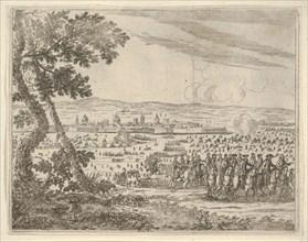 Francesco I d'Este Dissolved the Seige of Reggio, from L'Idea di un Principe ed Eroe Crist..., 1659. Creator: Bartolomeo Fenice.