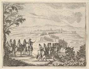 Francesco I d'Este Goes to Pinarola for the Security of his States, from L'Idea di un Prin..., 1659. Creator: Bartolomeo Fenice.