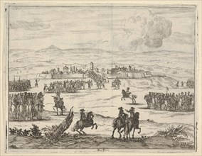 After a Long Seige, Francesco I d'Este, with the Aid of the French Army, Takes Valencia, f..., 1659. Creator: Bartolomeo Fenice.
