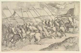 A Company of Horsemen. Creator: Battista Franco Veneziano.
