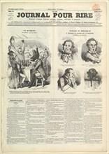 Le Journal Pour Rire, Journal d'Iimages, Journal Comique, Critique, Satirique e..., August 23, 1850. Creator: Unknown.