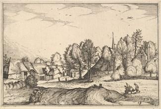 Road into a Village, plate 19 from Regiunculae et Villae Aliquot Ducatus Brabantiae, ca. 1610. Creator: Claes Jansz Visscher.