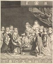 Frontispiece: Les Ordonnances royaux, ca. 1644. Creator: Claude Mellan.