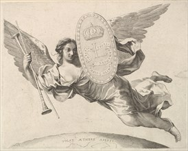 Fame Bearing a Shield with the Initial of Louis XIV