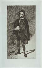 The Tragic Actor: Rouvière in the Role of Hamlet, 1865-66. Creator: Edouard Manet.