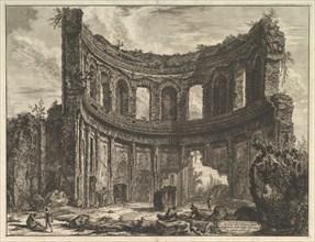 Avanzi del Tempio detto di Apollo nella Villa Adriana vicino a Tivoli