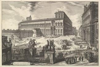 View of the Piazza di monte Cavallo, from Vedute di Roma