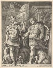 Two Roman Soldiers, 17th century. Creator: Giovanni Francesco Venturini.