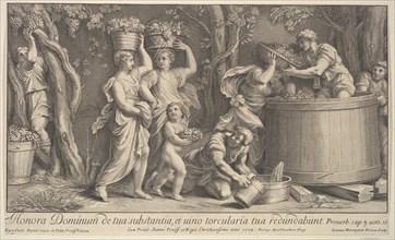 Vintage scene, 1704. Creator: Giovanni Girolamo Frezza.