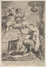 Pan foiled by Diana, 1675-1741. Creator: Giovanni Girolamo Frezza.