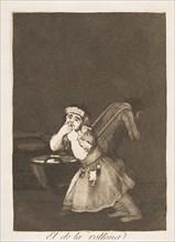 Plate 4 from 'Los Caprichos': Nanny's boy