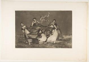 Plate 1 from the 'Disparates': Feminine folly., ca. 1816-23