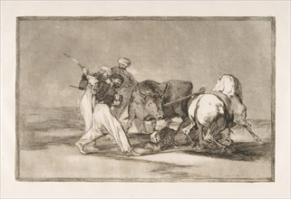 Plate 3 of the 'Tauromaquia':The Moors settled in Spain, giving up the superstitions of th..., 1816. Creator: Francisco Goya.