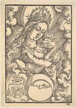 Madonna Lactans, from Enchiridon poeticum, 1515. Creator: Hans Baldung.