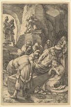 The Entombment, from The Passion of Christ, 1596. Creator: Hendrik Goltzius.
