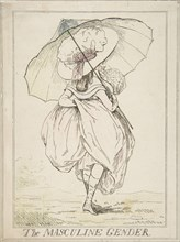The Masculine Gender, February 2, 1787. Creator: Attributed to Henry Kingsbury