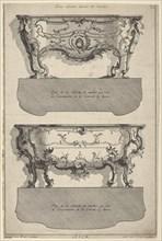 Designs for Two Commodes , from 'Livre de differents dessein de Comodes', 1745-56. Creators: Jean Francois Cuvillies, Carl Albert von Lespilliez.