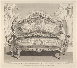 Canapé executé pour Mr. le Comte de Bielenski, from 'Oeuvre de Juste Aurele Meisson..., ca. 1742-48. Creator: Juste-Aurele Meissonier.