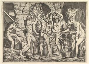 Venus in Vulcan's Forge, 1546-47. Creator: Leon Davent.