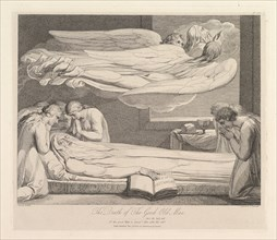 The Death of the Good Old Man, from The Grave, a Poem by Robert Blair, March 1, 1813. Creator: Luigi Schiavonetti.