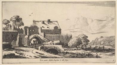 A Water Mill near St. Denis, 17th century. Creator: Reinier Zeeman.