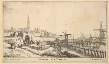 The Zaagmolen Gate, 17th century. Creator: Reinier Zeeman.