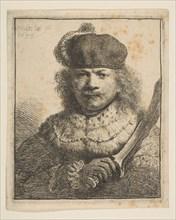 Rembrandt with Raised Sabre, 1634. Creator: Rembrandt Harmensz van Rijn.
