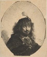 Self-Portrait with Plumed Cap and Lowered Sabre, 1634. Creator: Rembrandt Harmensz van Rijn.