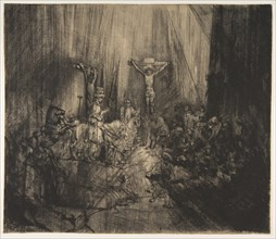 Christ Crucified between the Two Thieves: The Three Crosses, ca. 1660. Creator: Rembrandt Harmensz van Rijn.