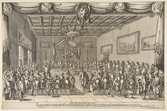 Banquet of the Piacevoli, 1627. Creator: Stefano della Bella.