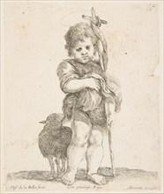 Saint John the Baptist holding his folded robe, ca. 1641. Creator: Stefano della Bella.