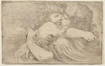 Two Children Embrace, ca. 1662. Creator: Stefano della Bella.
