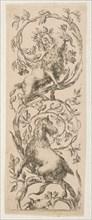 Two Goats Nibbling Branches, ca. 1653. Creator: Stefano della Bella.