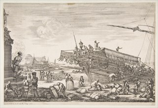 Loading a galley, from 'Views of the port of Livorno'