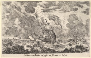 An ordinary ship travelling between Douvre and Calais