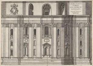 Speculum Romanae Magnificentiae: St. Peter's, 1564. Creator: Vincenzo Luchino.