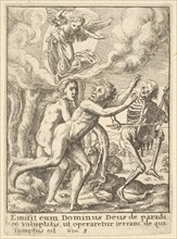 Paradise Lost, from the Dance of Death, 1651. Creator: Wenceslaus Hollar.