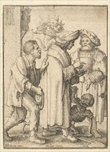 Rich Man, from the Dance of Death, 1651. Creator: Wenceslaus Hollar.