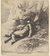 Infant Hercules asleep, 1625-77. Creator: Wenceslaus Hollar.