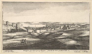Prospect of ye lower part of Tangier, from the hill West of White-hall, 1669-73. Creator: Wenceslaus Hollar.