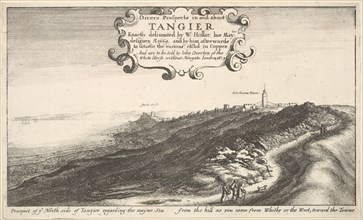Prospect of ye North side of Tangier regarding the mayne Sea from the hill as you come ..., by 1673. Creator: Wenceslaus Hollar.