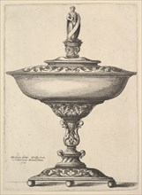 A wide cup with ball feet, 1646. Creator: Wenceslaus Hollar.