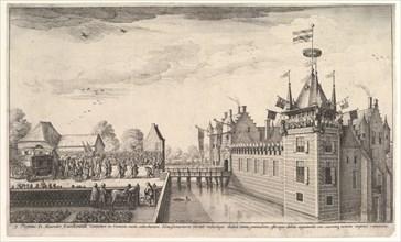Visit to A. Roelants, 1650. Creator: Wenceslaus Hollar.