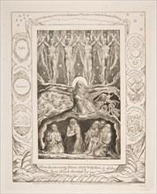 The Creation, from Illustrations of the Book of Job, 1825-26. Creator: William Blake.