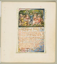 Songs of Innocence and of Experience: Laughing Song, ca. 1825. Creator: William Blake.